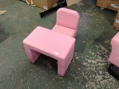 |X1| KIDS PINK FAUX LEATHER CHAIR & DESK |RRP-| |N