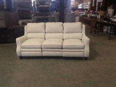 NATURAL HIGH BACK ELECTRIC RECLINING 3 SEATER TR00