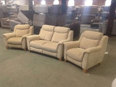BISCUIT HIGH BACK 2 SEATER & X2 CHAIRS (2 SEATER