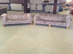 GREY CHESTERFIELD 3 SEATER & 2 SEATER HH30-154651-