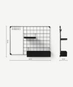 |1X|Made.com MADE Essentials Moss Wall Mounted Medium Kitchen Storage Black RRP £39|1j0474/16 -