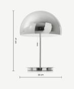 |1X|Made.com Collet Dome Table Lamp Chrome RRP £69|1j0470/15 - TLPCOL003CHM-UK| (1j0470/15) 1E