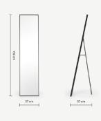 |1X|Made.com Parton Freestanding Full Length Mirror 37 x 153cm Matt Black RRP £139|1j0470/8 -
