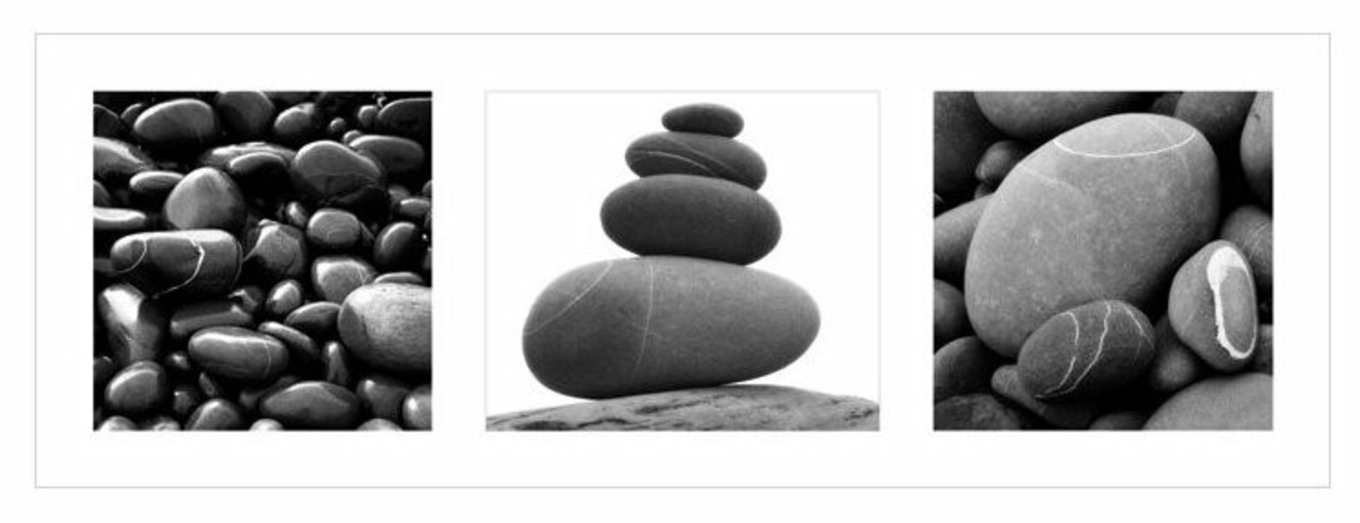 East Urban Home, Stones' 3 Piece Photographic Print Set (ROLLED UP) - RRP £19.99 (APET2319.