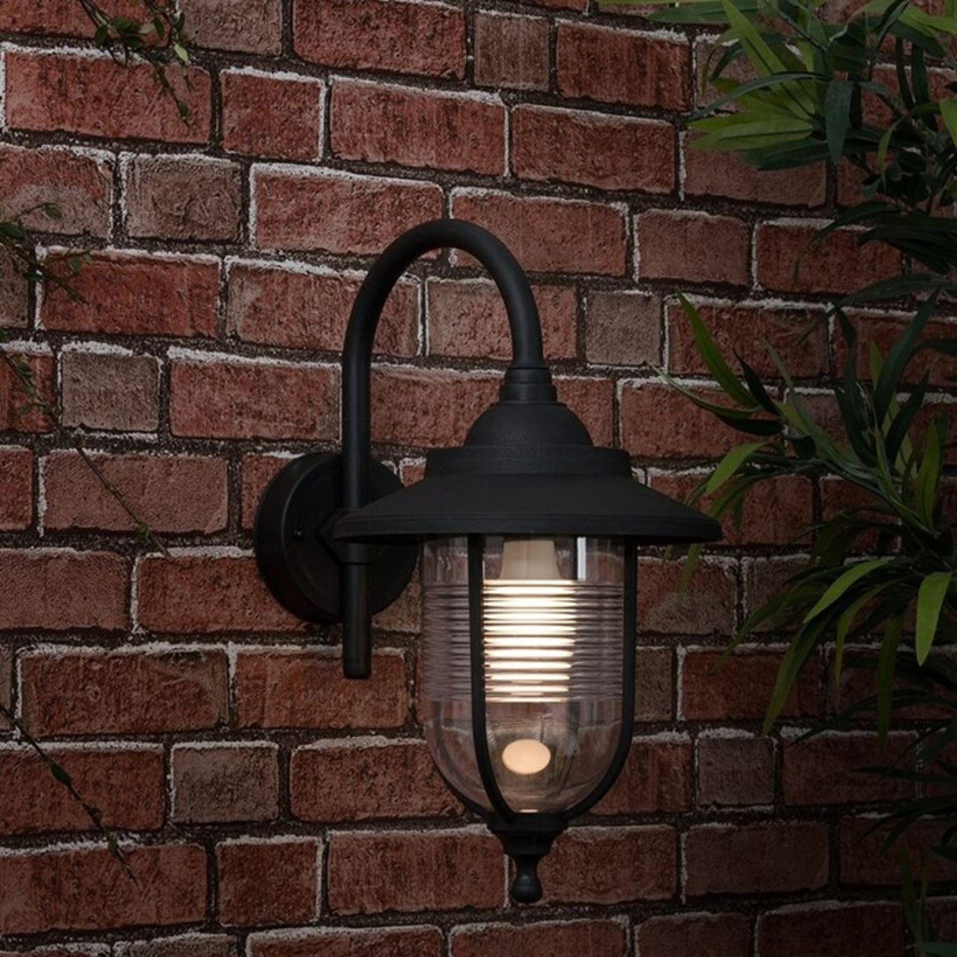 MiniSun, Eyam Swan Neck 1 Light Outdoor Wall Lantern - RRP£26.99 (MSUN2713 - 15630/5) 7F