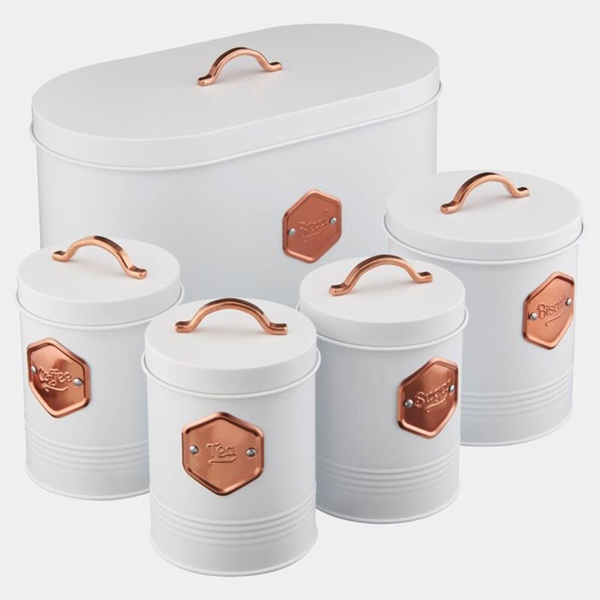 Cooks Professional, 5 Container Food Storage Set (BLACK & COPPER) - RRP£39.99 (EWEB1075 - 21458/