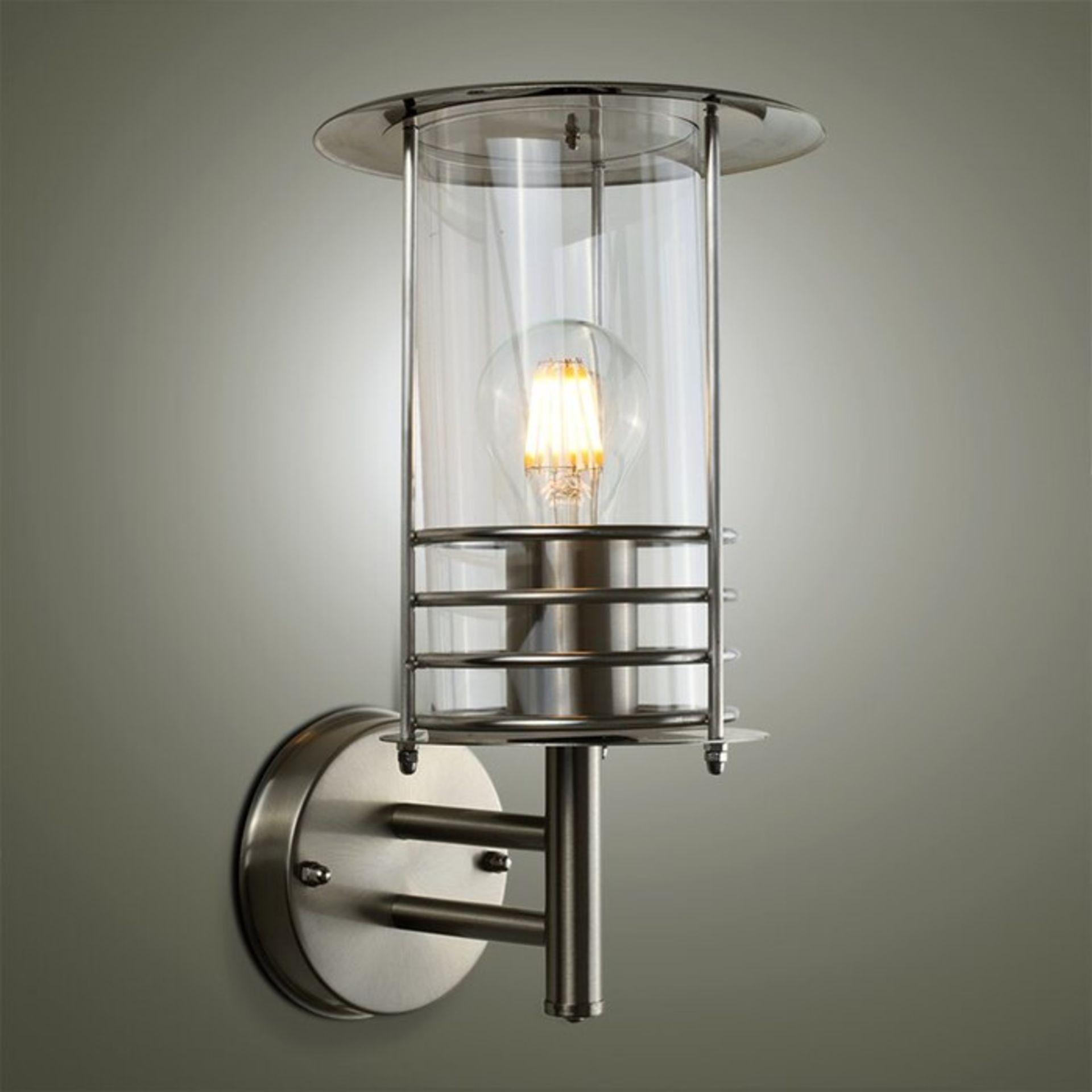 MiniSun, Dorset Outdoor Wall Lantern X3 (BULBS NOT INC)(SCRATCH ON ON GLASS ON ONE) - RRP£28.99 (