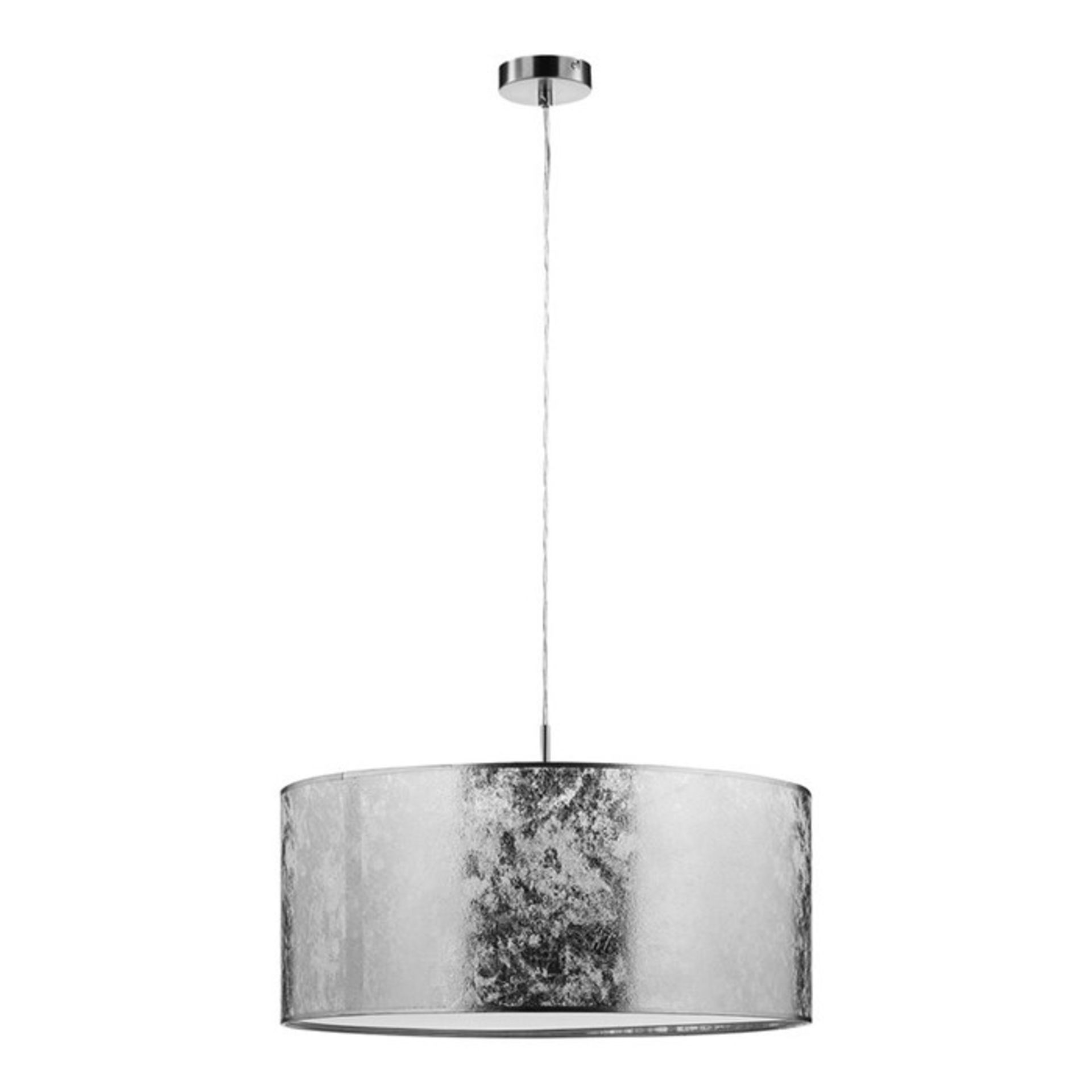Fairmont Park, Withernsea 1-Light Drum Pendant (SILVER) - RRP£54.99 (HLCP4554 - 15630/10) 7F