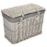 Rebrilliant, Wicker Laundry Bin L59 X D38cm X H43cm (GREY) - RRP£71.99 (XBXU1085 - 22262/12) 1J