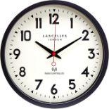 Roger Lascelles Clocks, Radio Controlled Wall Clock (BLACK) - RRP£55.99 (RLS1226 - 21458/36) 1F