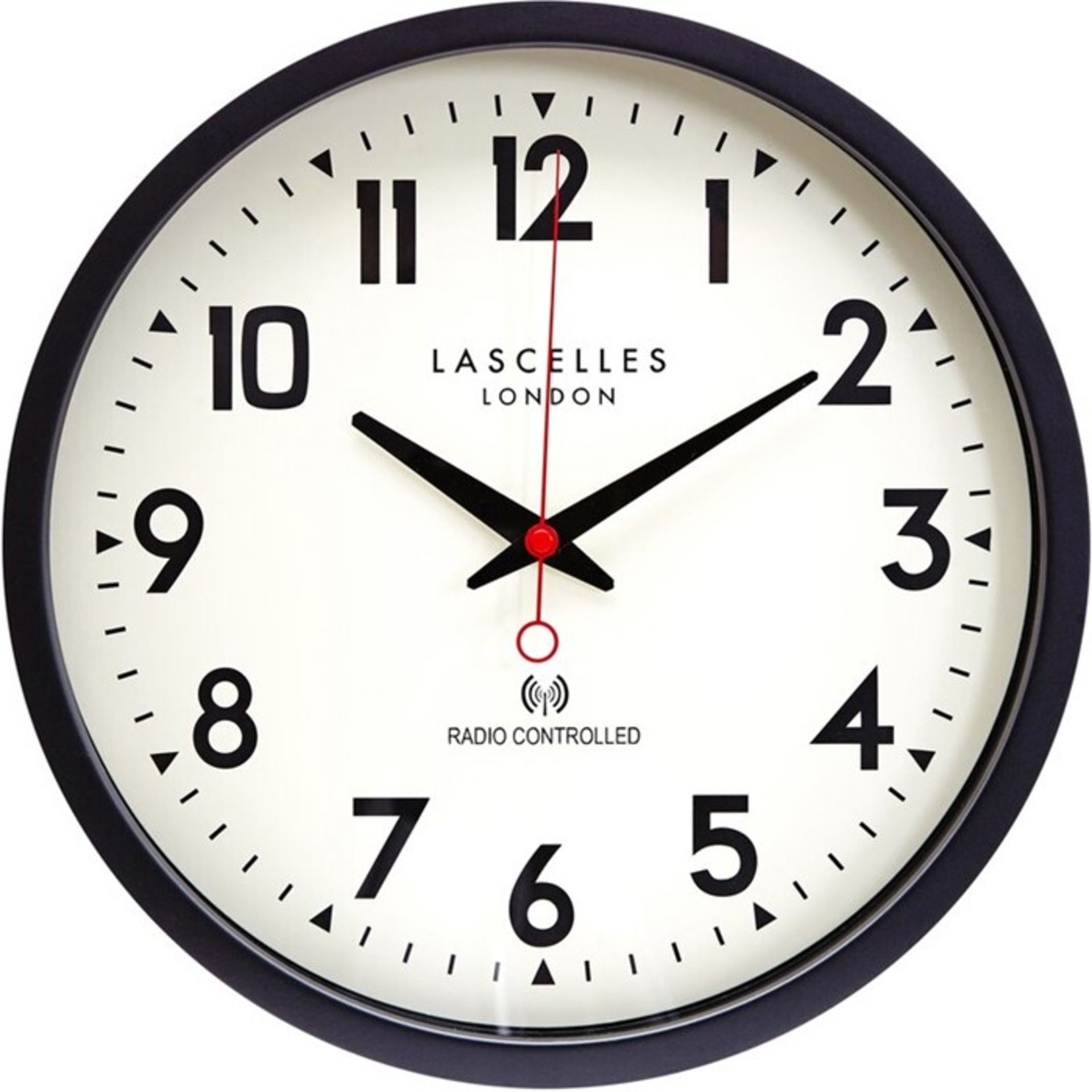 Roger Lascelles Clocks, Radio Controlled Wall Clock (BLACK) - RRP£55.99 (RLS1226 - 21458/36) 1F