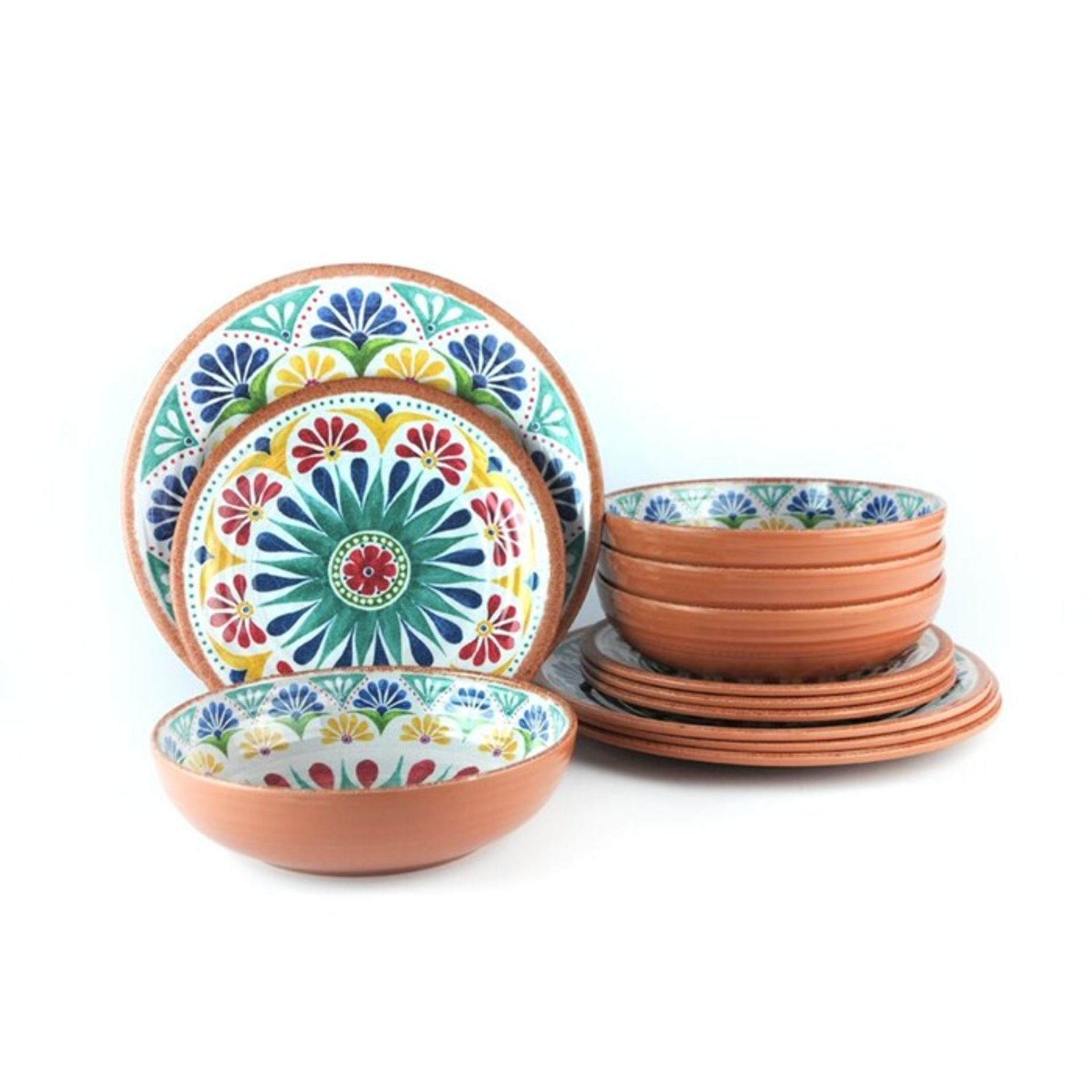 Tar Hong, Rio 24 Piece Melamine Dinnerware Set, Service for 8 - RRP£66.99 (QEFF1472 - 22262/3) 1A