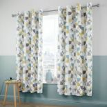 Catherine Lansfield, Retro Circles Easy Care Eyelet Room Darkening Curtains (168CM X 183CM) - RRP £
