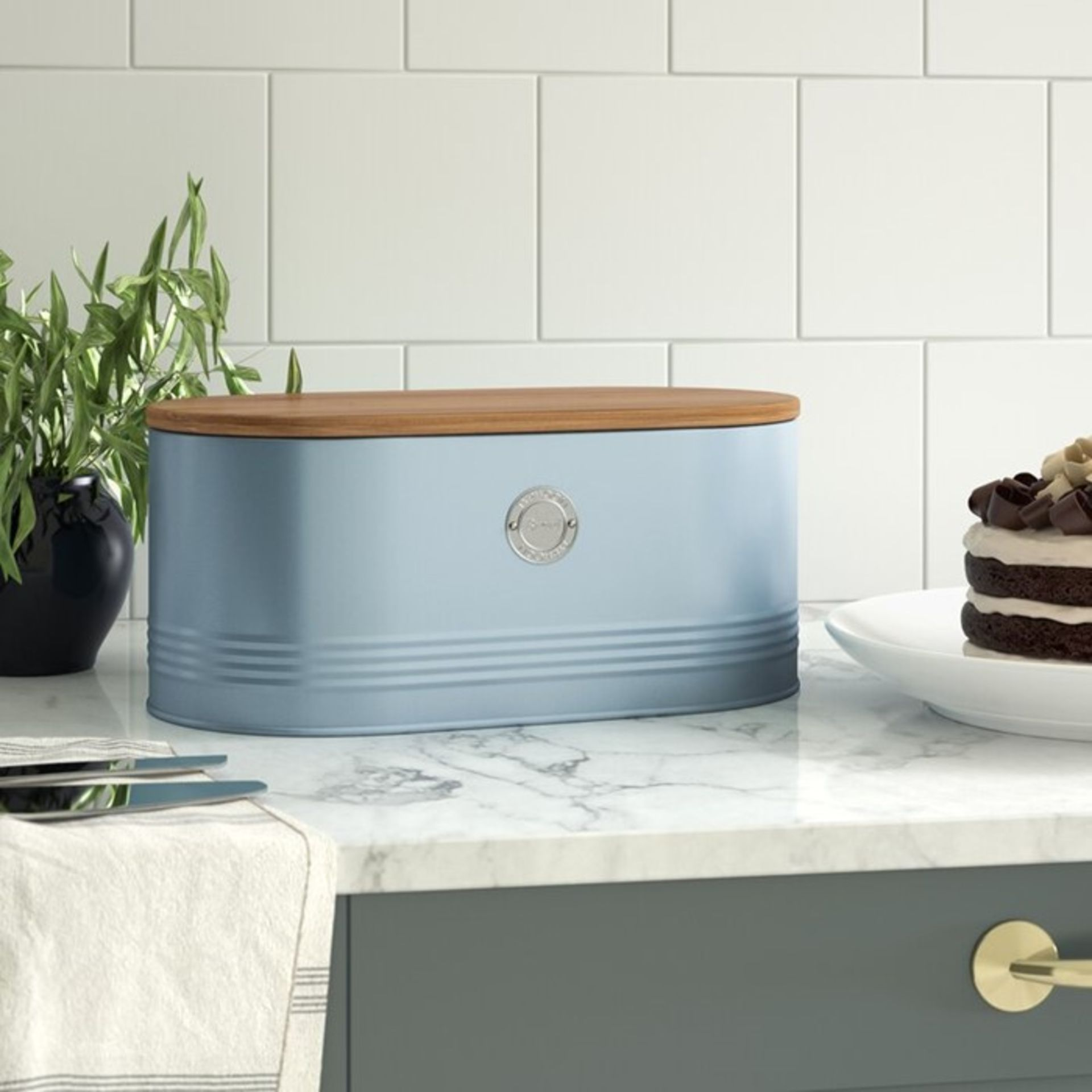 Typhoon, Living Bread Bin (BLUE) - RRP £18.95 (LOZ1515 - 21629/37) 4G