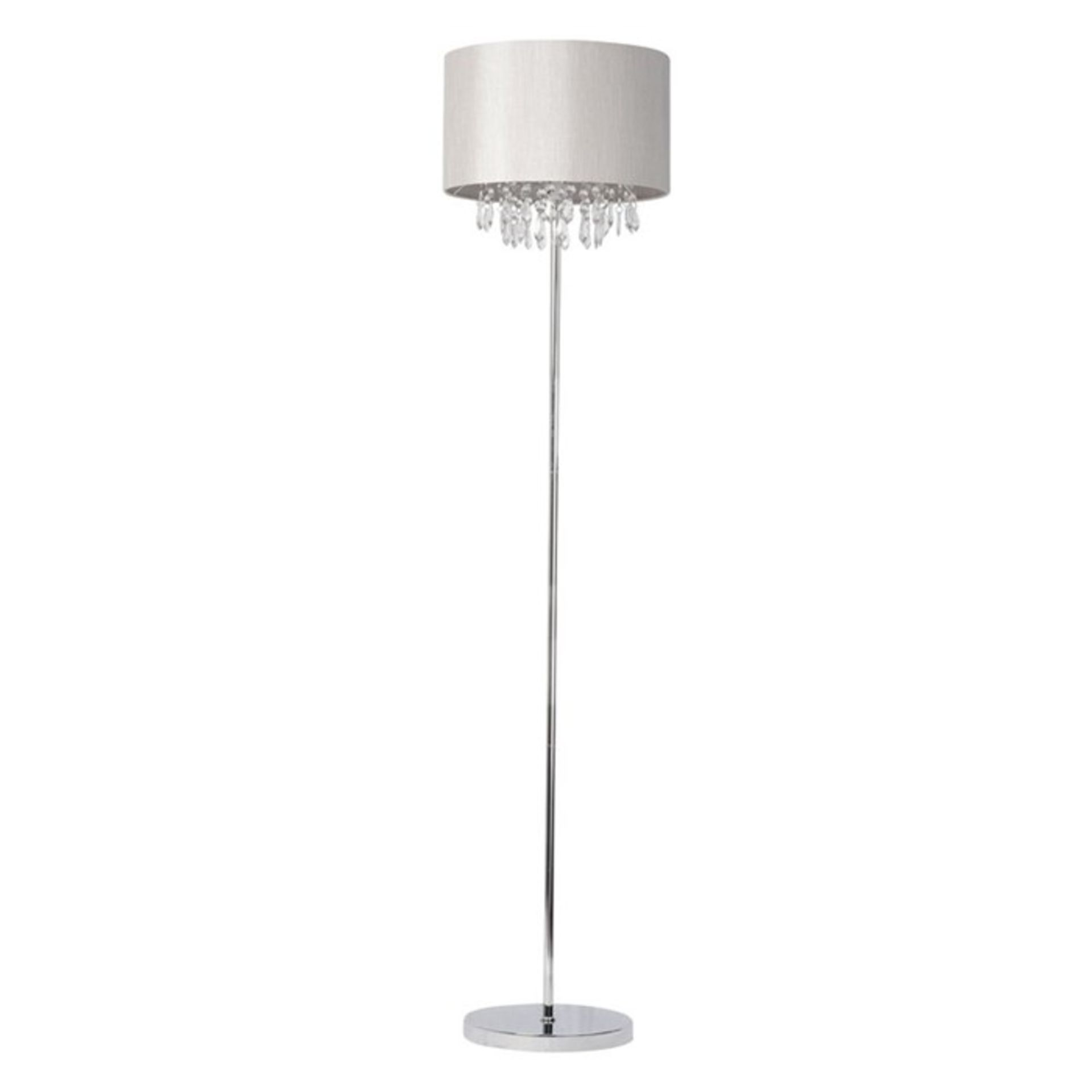 Rosdorf Park, Gracie 145cm Floor Lamp (CREAM/OFF WHITE SHADE) - RRP £66.99 (HOKF1483 - 21629/9) 4G