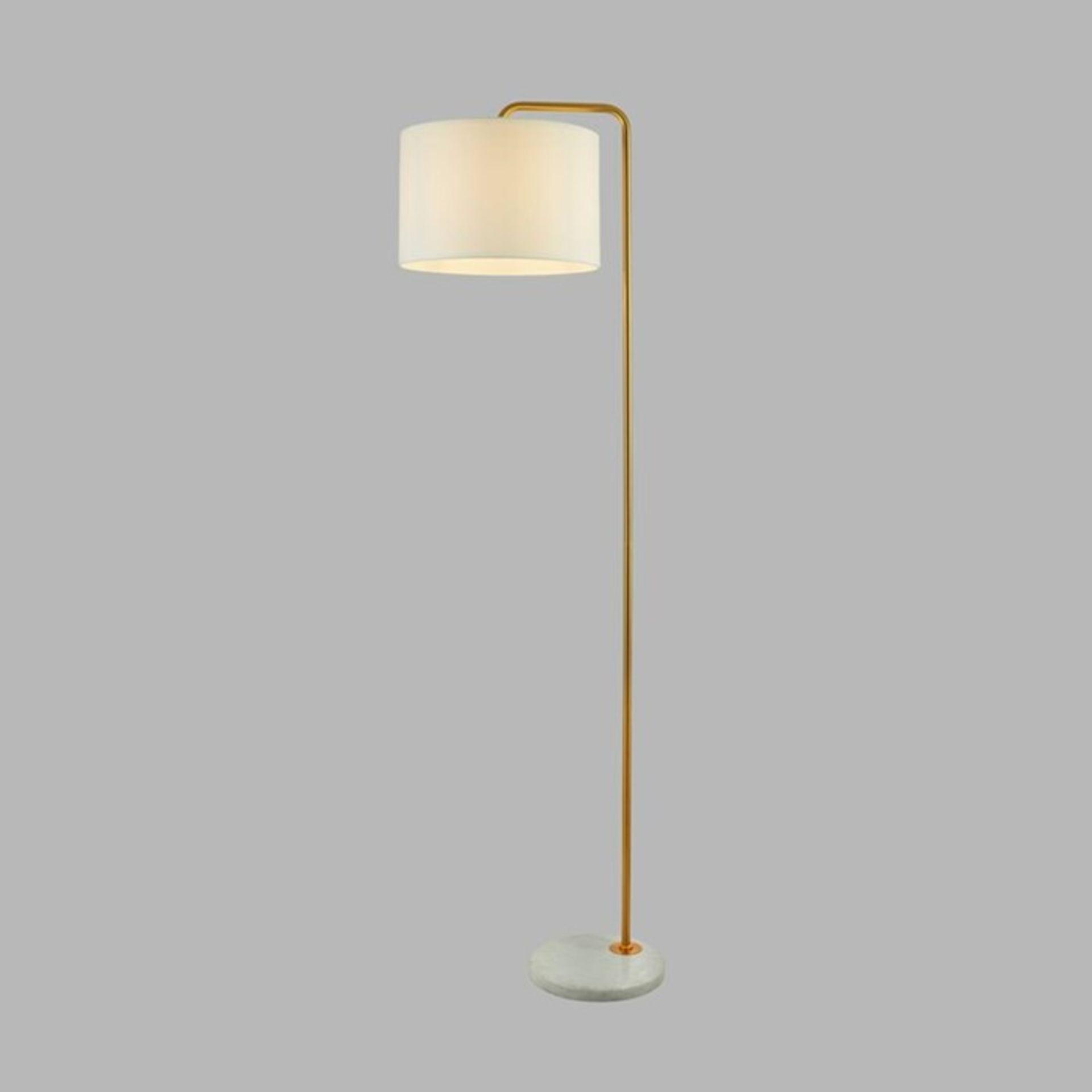 Fairmont Park, McCarten 155cm Reading Floor Lamp (GOLD/WHITE MARBLE) - RRP £113.99 (SRL10094 -