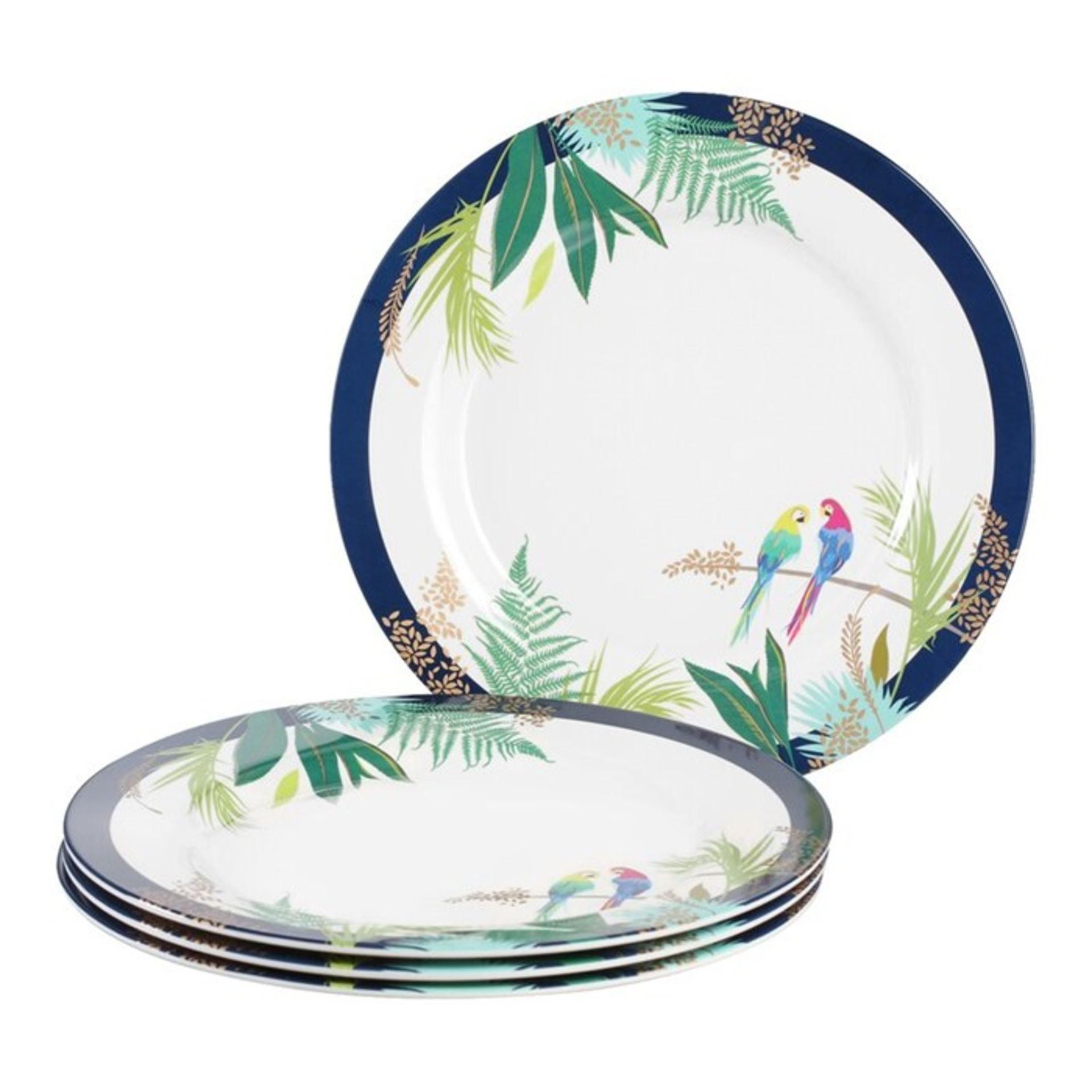 Portmeirion, Sara Miller Melamine Dinner Plate (SET OF 4) - RRP£29.97 (PMN10708 - 21458/41) 2D