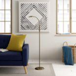 Zipcode Design, Demetrius 138cm LED Arched Floor Lamp (ANTIQUE BRASS) - RRP£79.99 (FSL3170 - 21458/