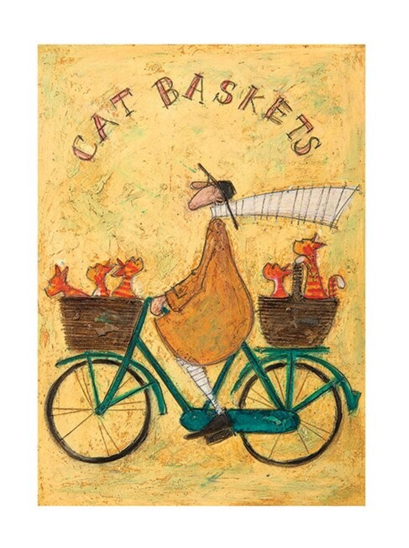 East Urban Home, Cat Baskets' by Sam Toft Painting Print (ROLLED UP) - RRP£13.99 (CACA4018 - 21458/