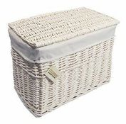 Beachcrest Home, Wicker Hamper Basket (WHITE) - RRP£45.99 (WDLV1163 - 22262/16) 1J