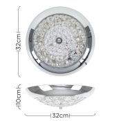 Symple Stuff, Altro 1-Light LED Flush Mount - RRP£26.99 (MSUN5157 - 15630/30) 7D