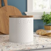 Typhoon, Embossed Bread Bin (WHITE) - RRP£19.99 (LOZ1474 - 22262/18) 1B