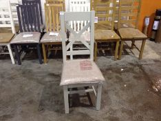 1 x GREY PAINTED DINING CHAIR (CHM-32A )