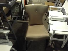 BEIGE DINING CHAIR (RIPPED)