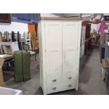 Hampshire Ivory Painted Oak Large Larder Unit (CH-N20 -HP-LLU-C) (damaged)