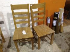 2 X Oak Ladder Back Chair (CH-M51 -LO-CH)