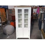 Hampshire White Painted Oak Display Cabinet (CH-N22 -KEL P37) (marked, loose top)