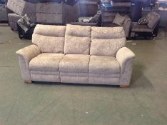 BEIGE PATTERNED HIGH BACK 3 SEATER TR002149 W00618