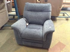 BLUE FABRIC ELECTRIC RECLINING CHAIR TR00143 W0096