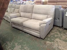 BISCUIT ELECTRIC RECLINING 3 SEATER (MARK ON SIDE)