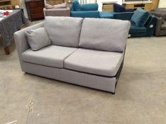 | 1x|Made.com Milner Right Hand Facing Corner Storage Sofa Bed with Foam Mattress Granite Grey PART