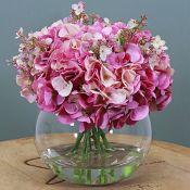 Silk by Design, Hydrangea Floral Arrangement in Vase with Viburnum - RRP £124.99 (DRDV1024 - 21356/