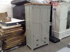 GREY PAINTED LARDER UNIT (DAMAGED)