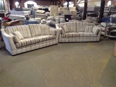 X2 MULTI COLOURED PATTERNED 3 SEATER SOFAS TR00214