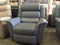 BLUE LEATHER ELECTRIC RECLINING CHAIR TR002156 W00