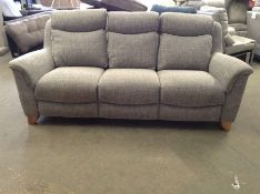 GREY PATTERNED HIGH BACK 3 SEATER SOFA TR002143 W0