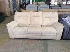 BISCUIT PATTERNED HIGH 3 SEATER ( WORN, DAMAGED) T