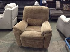 GOLDEN CHEQUERED ELECTRIC RECLINING CHAIR TR002139