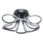 Canora Grey, Rothwell 8-Light LED Flush Mount (BLACK) - RRP £145.99 (HOKD9452 - 17071/4) 7D