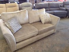 CREAM SADDLE 3 SEATER SOFA HH33-714899-22