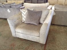 SILVER FABRIC SNUG CHAIR HH33-706724-15