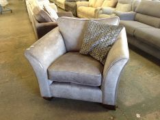 GREY SADDLE CHAIR HH33-729435-19