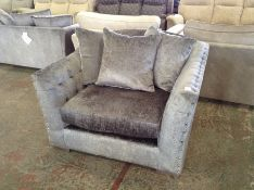 GREY FABRIC SNUG CHAIR HH33-726707-45