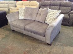 GREY SADDLE 3 SEATER BED SETTEE HH33-7