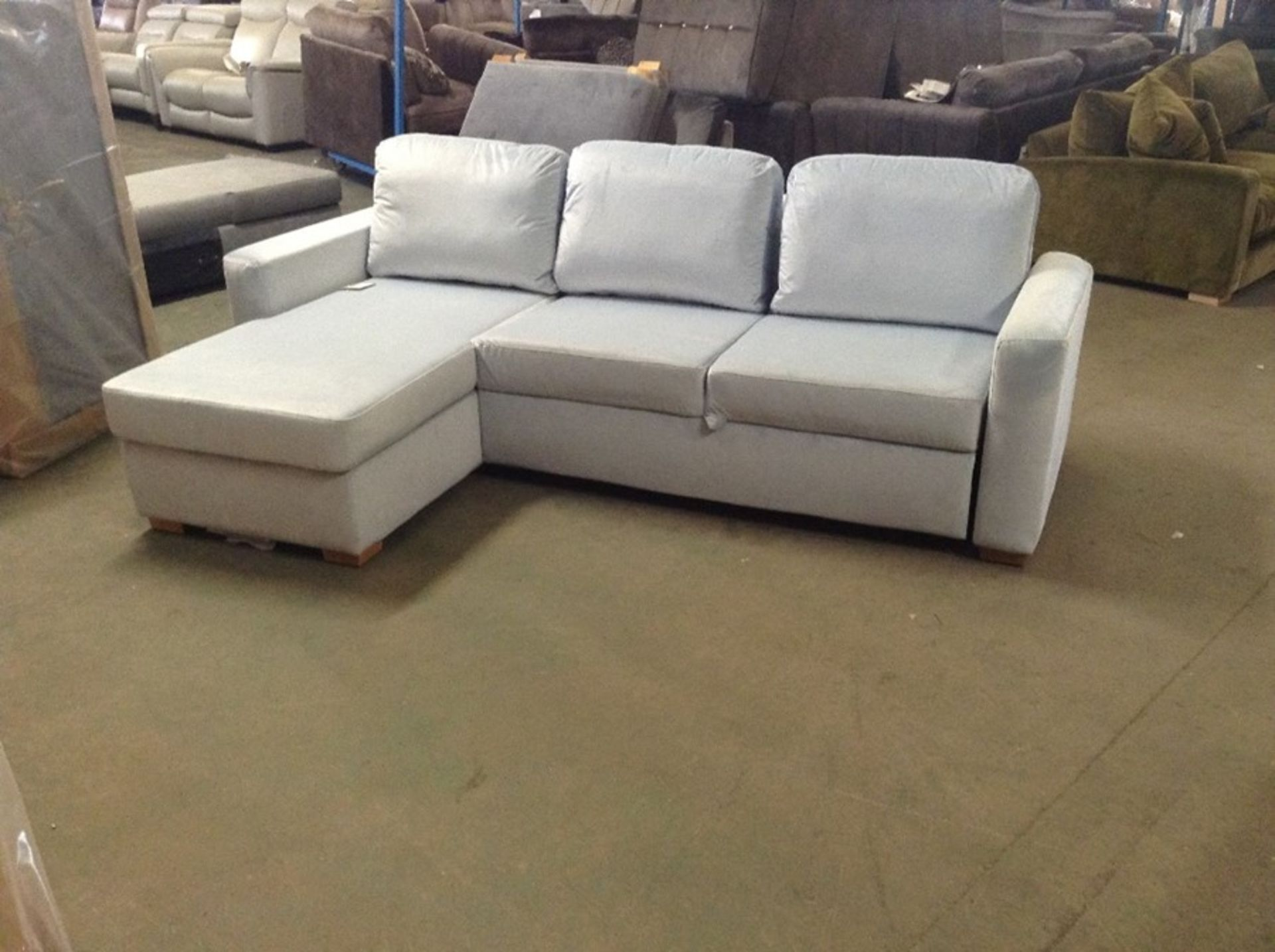 SACHA OPULENCE BABY BLUE SOFABED(SFL3011) (WRAPPED