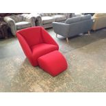 RED ENVELOPE SWIVELLING CHAIR (SFL1231)RED ENVELO